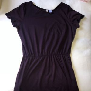 HM t-shirt dress Burgundy